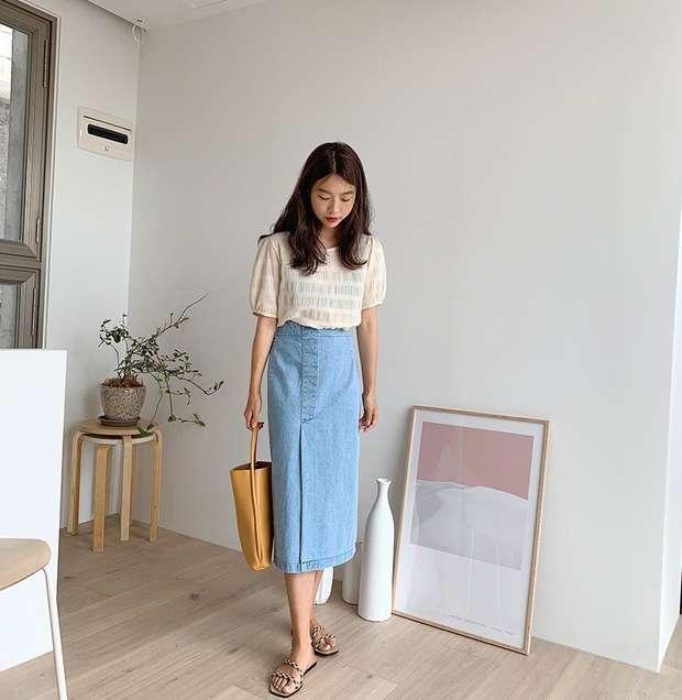 áo blouse váy dài