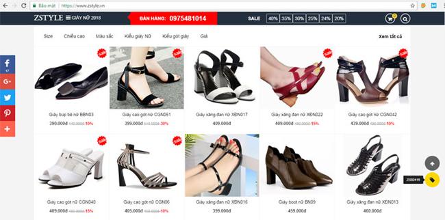 cửa hàng dày dép online