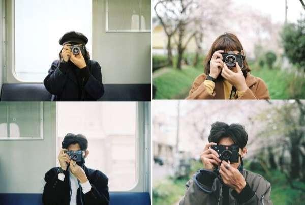 couple Thái Lan chụp ảnh cho nhau
